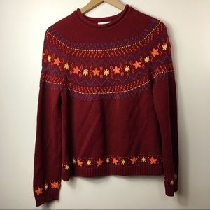 Christopher & Banks Burgundy Fall Sweater, S